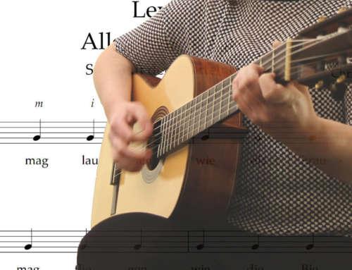 6 einfache Songs für Kinder – An der Gitarre Noten lernen